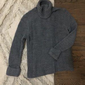 Express Gray Knit Turtleneck Sweater